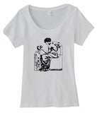 Goddess Circe and Skull Scoop Neck Tee