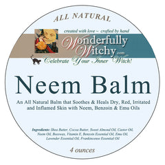 Healing Neem Balm for Dry, Red, Irritated and Inflamed Skin