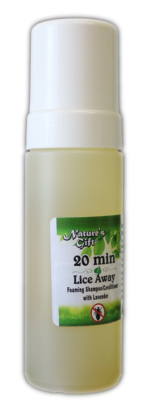 Nature's Gift® 20 Minute Lice Away 6oz Foaming Shampoo