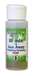 9oz REFILL - Nature's Gift 20 Minute Lice Away Foaming Shampoo