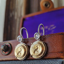 Load image into Gallery viewer, 'Fidelite' Greyhound Earrings-Earrings-Seal & Scribe