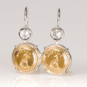 'Fidelite' Greyhound Earrings-Earrings-Seal & Scribe