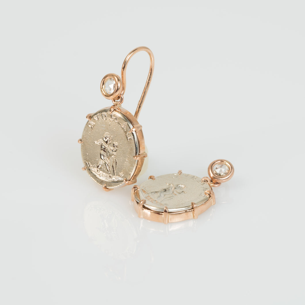 L'Amour Cupid earrings-Earrings-Seal & Scribe