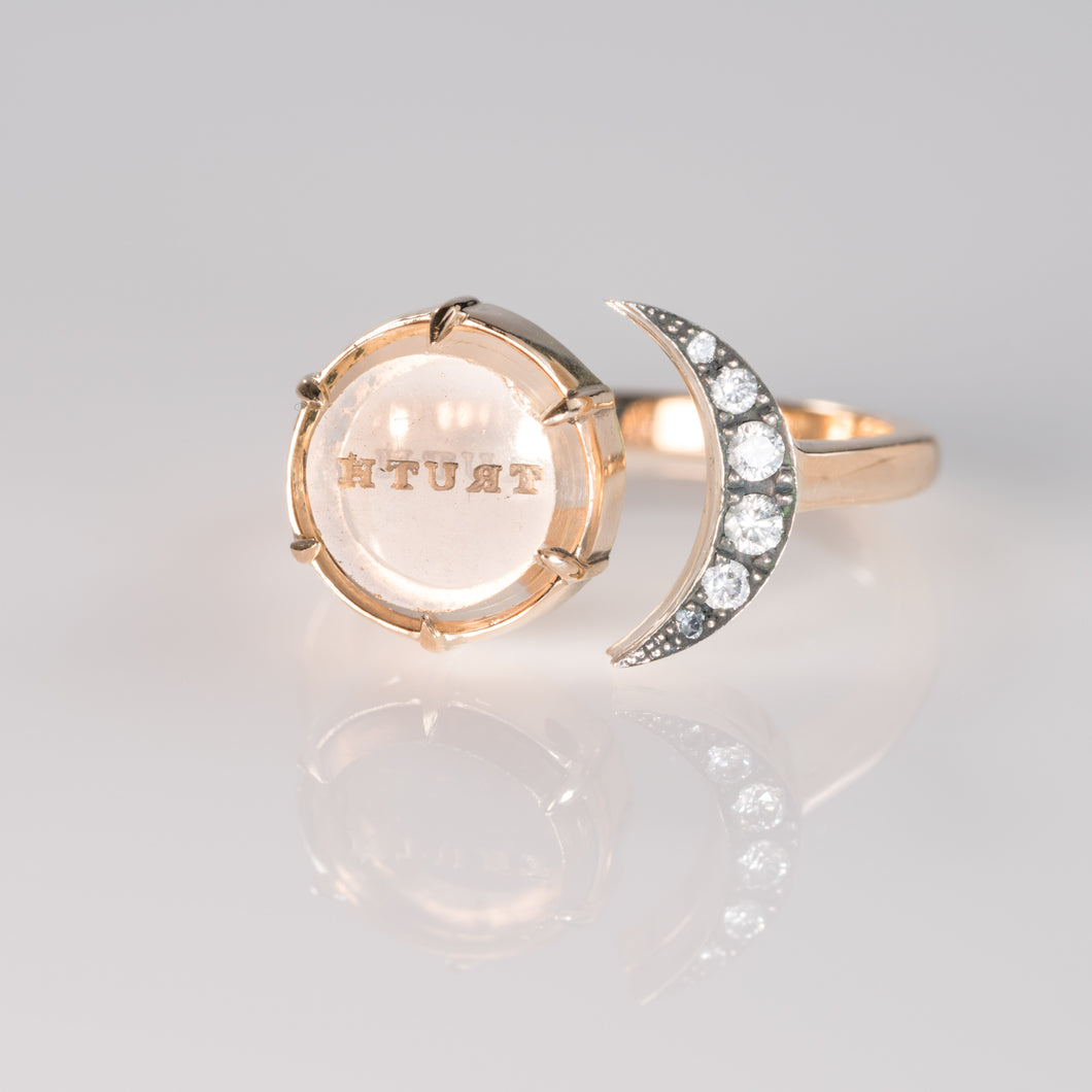 Truth Moon ring-Ring-Seal & Scribe