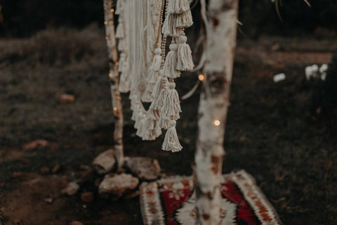 Infinity Charm Wedding Macrame