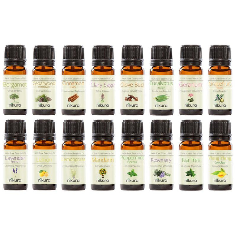 16 x 10ml Pure Essential Oils
