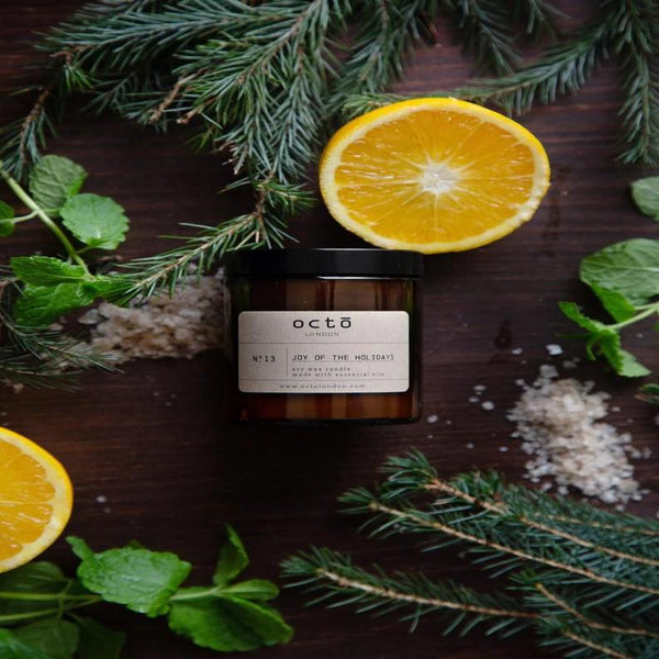 Joy Of The Holidays - Frankincense, Orange, Peppermint Candle