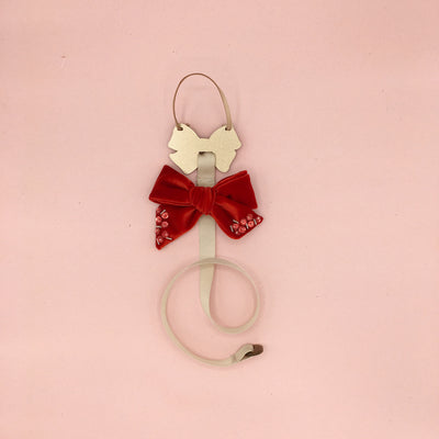 Mini Dolly Hair Clip Bow Holder/ Gold