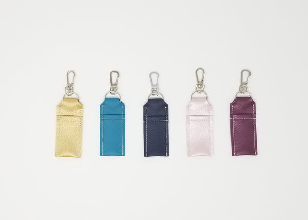 Keychain Chapstick Holders: Faux Leather