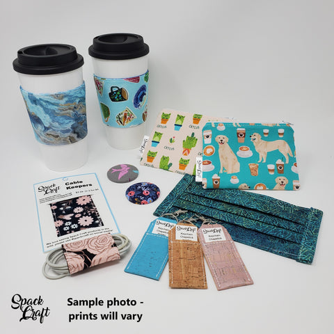Sample photo of gifts with purchase - prints will vary