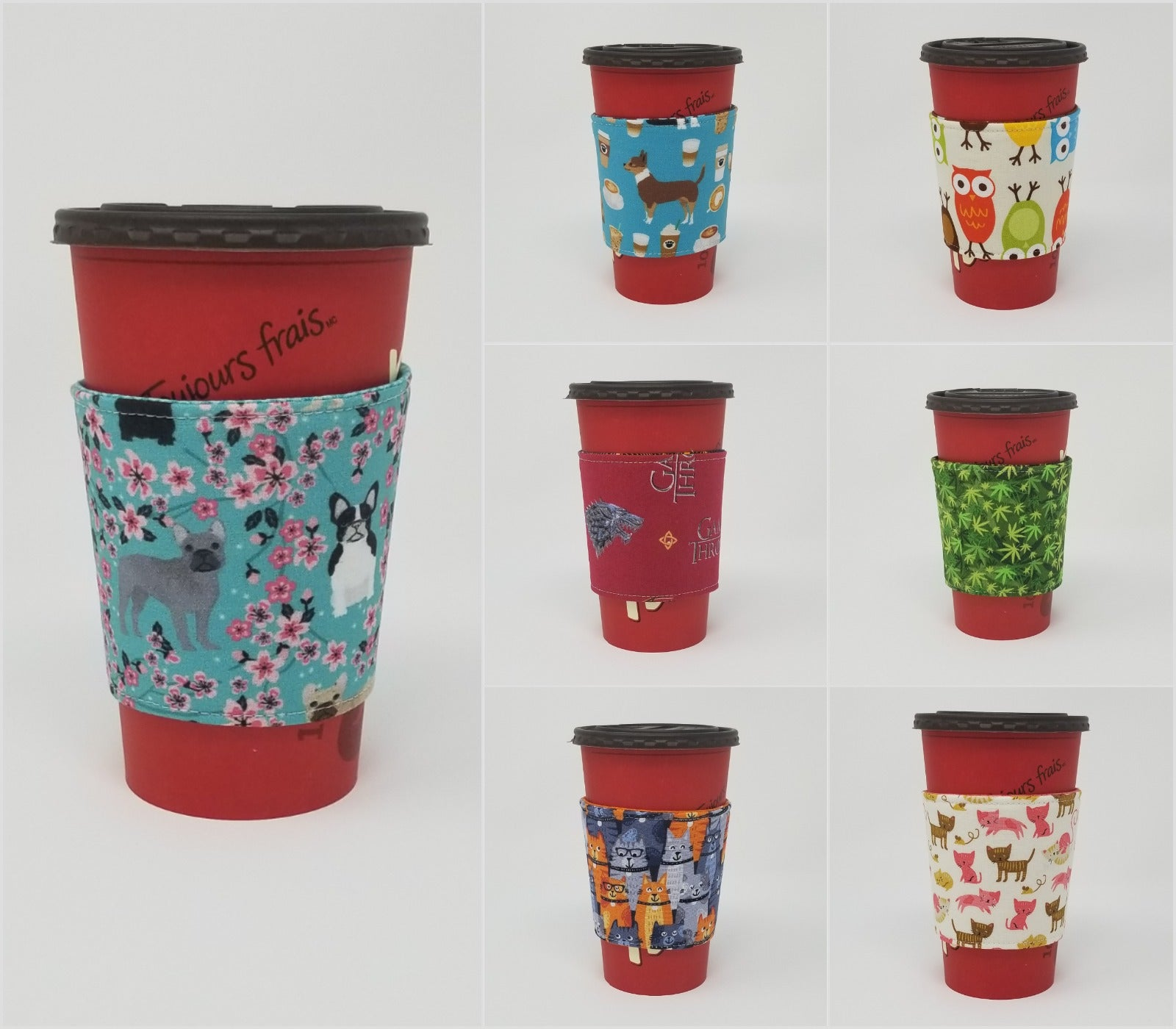 February 2019 New Reusable Cup Cozy styles