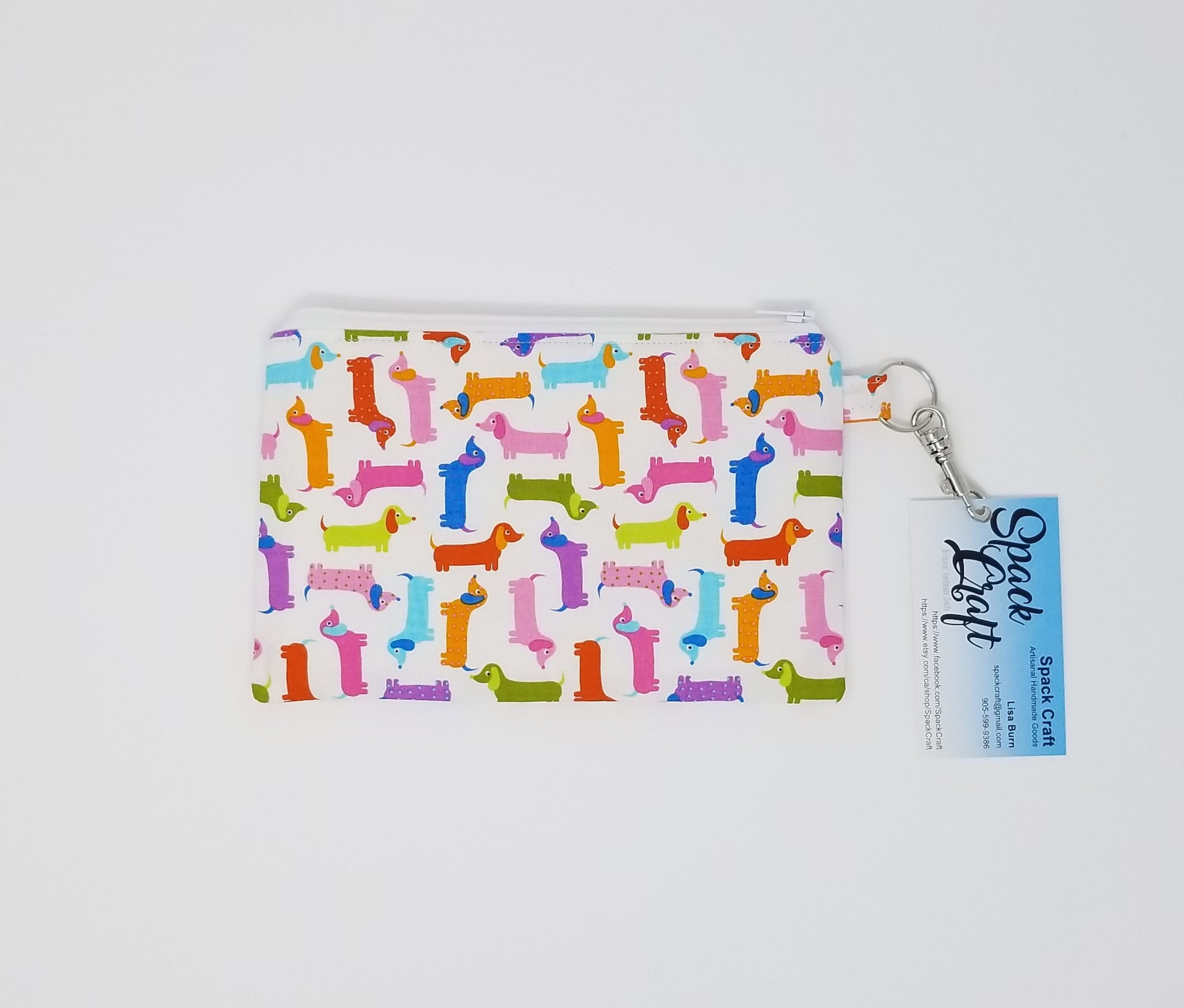 Snack/Cosmetic Bag - Spring Dachshunds (Weens)