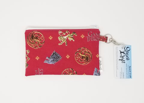 Snack Bag - Game of Thrones sigils on red background