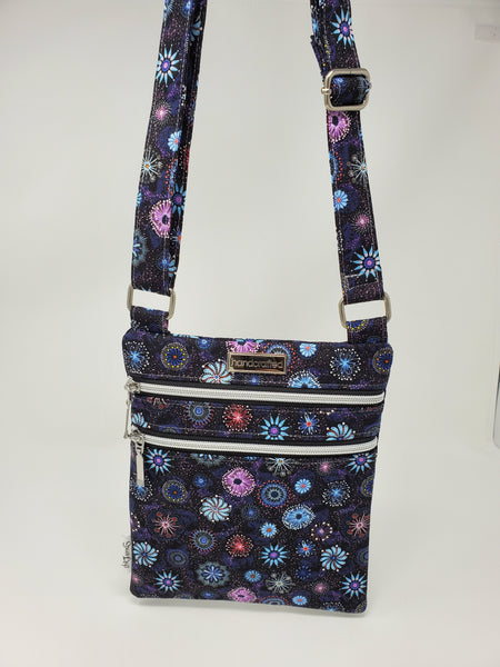 Zip and Go Purse - Dandelions and Pinwheels