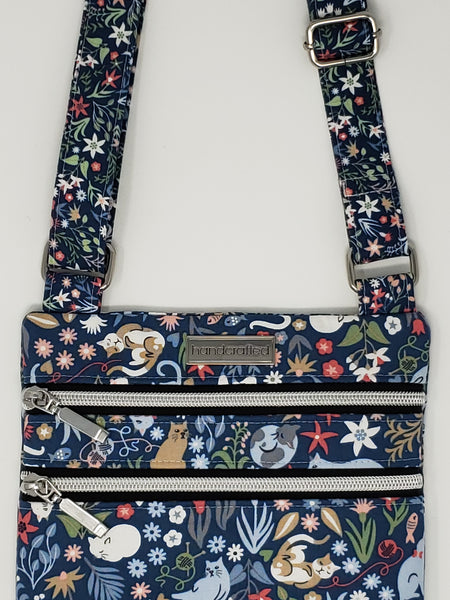 Zip and Go Purse - Catnip Floral