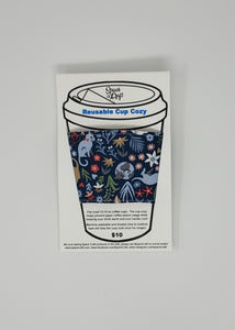 Reusable cup cozy - Feline Good in package
