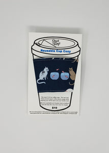 Reusable cup cozy - Are You Kitten Me? in package