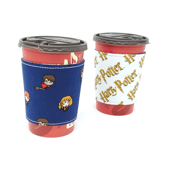 Reusable cup cozy - Chibi Harry Potter - Pictured on a  medium Tim Horton's cup