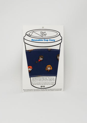 Reusable cup cozy - Chibi Harry Potter - in package