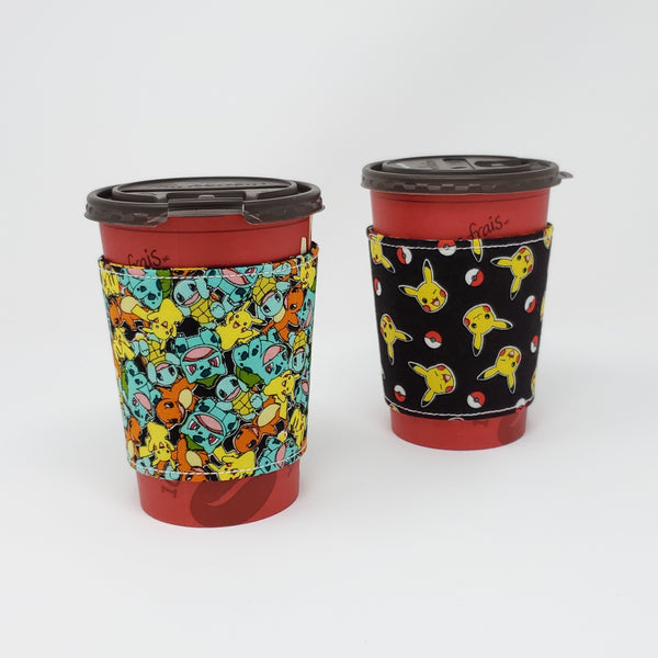 Reusable cup cozy - Pokemon - Pictured on a  medium Tim Horton's cup