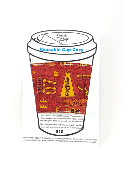 Reusable cup cozy - Harry Potter Seeker - in packaging