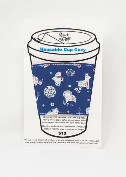 Reusable cup cozy - No Problama - in packaging
