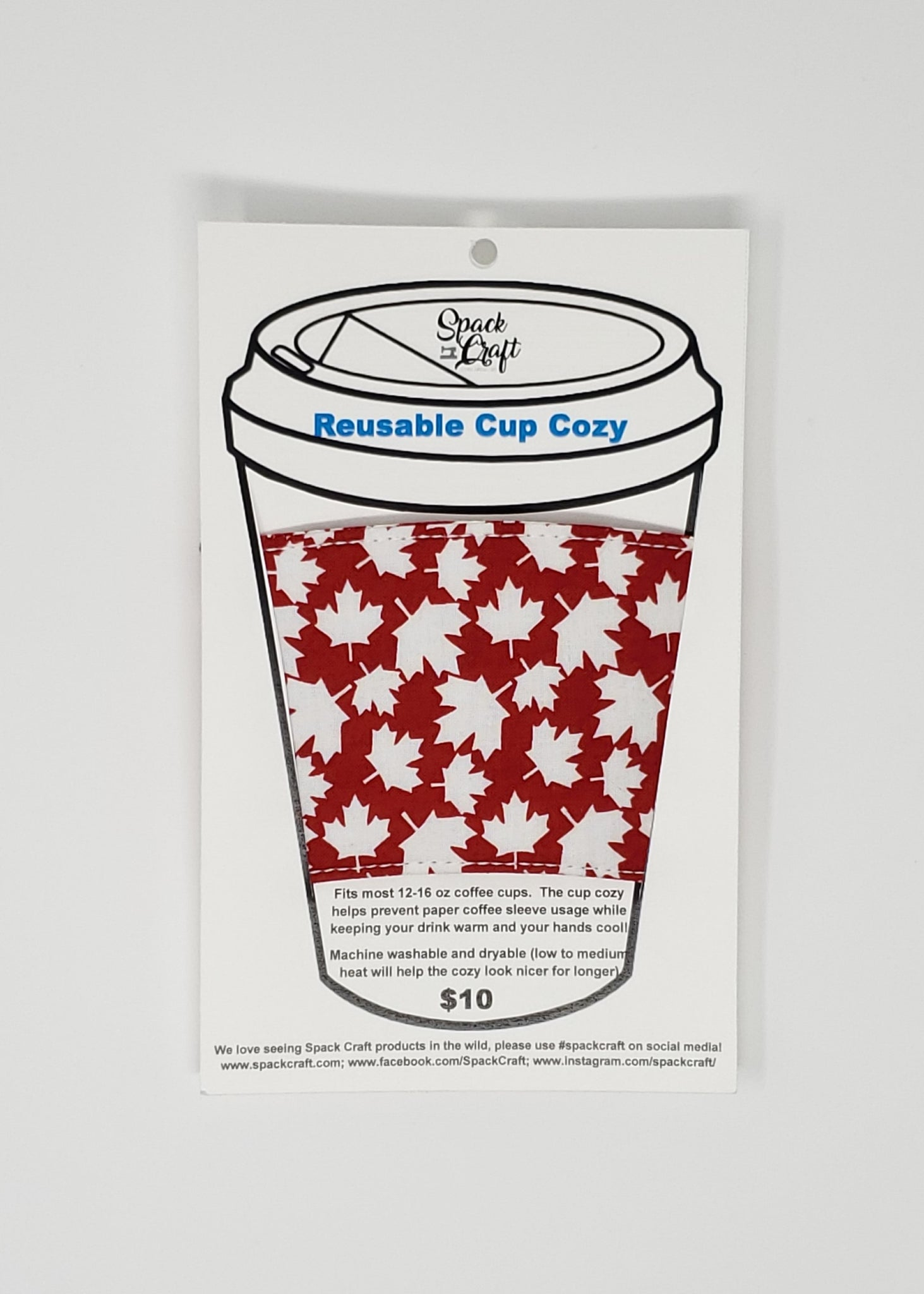 Reusable cup cozy - Canada - in packaging