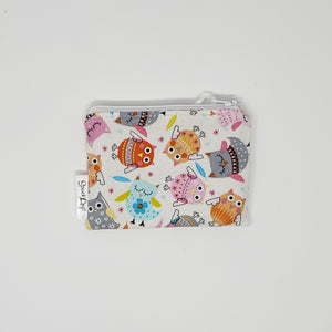 Change Purse - Pink Owls - Front