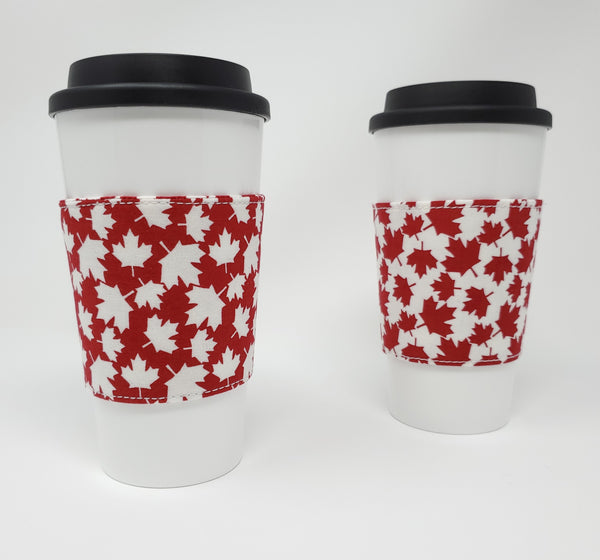 Reusable cup cozy - Canada - Pictured on a cup