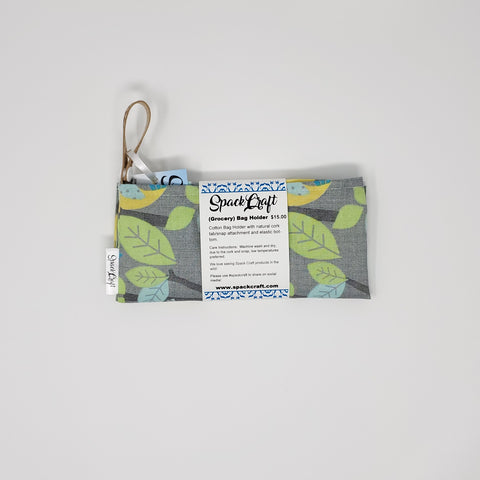 Bag Holder - Grey Birds