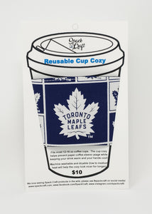 Reusable Cup Cozy - Toronto Maple Leafs