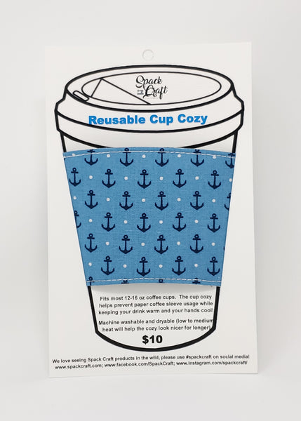 Reusable Cup Cozy - Anchors