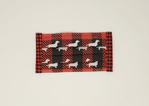 Cotton Mask - Buffalo Plaid Dachshunds