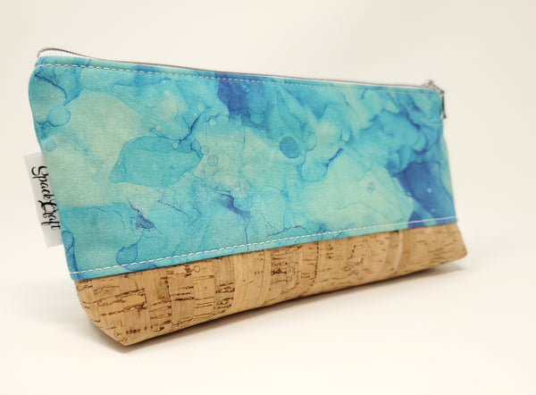 Essential Oil Bag - Teal Alcohol Ink Print