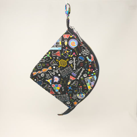 Zip Wide Open (Mask) Bag - Bright Science Doodles