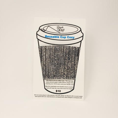 Reusable Cup Cozy - Black Shimmer (metallic)