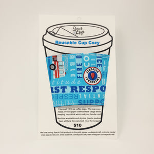 Reusable Cup Cozy - Thank You (First Responders)