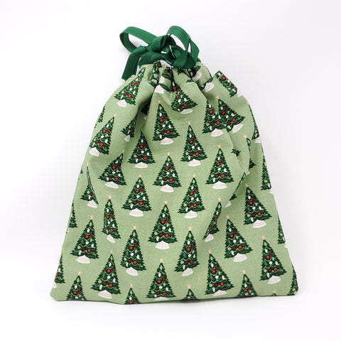 Reusable Gift Bag - Christmas Trees - Small