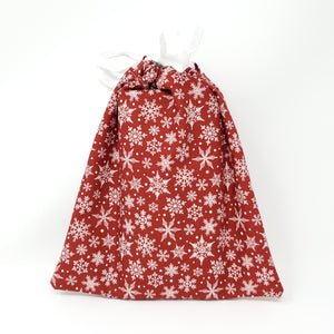 Reusable Gift Bag - Snowflakes - Medium