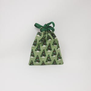 Reusable Gift Bag - Christmas Trees - Extra Small
