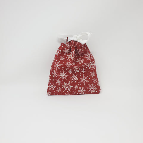 Reusable Gift Bag - Snowflakes - Extra Small