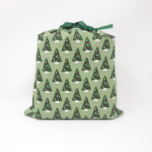Reusable Gift Bag - Christmas Trees - Medium