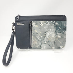 Zippy Clutch - Compass (Grey)