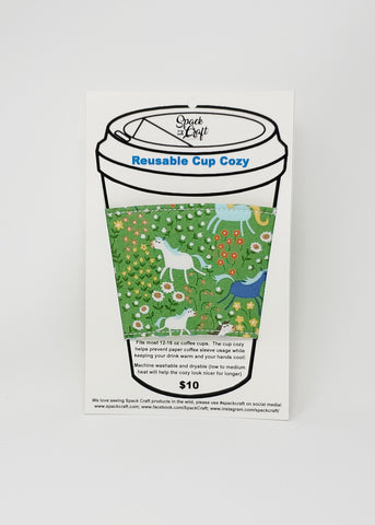 Reusable cup cozy - 50 Shades of Hay in package