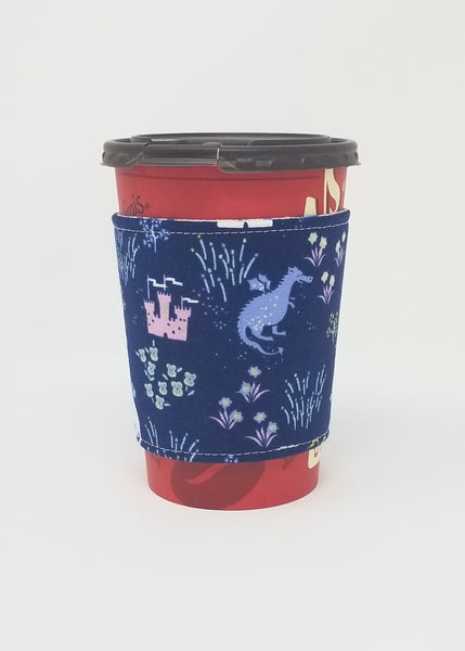 Reusable cup cozy displayed on a medium coffee cup - Avalon