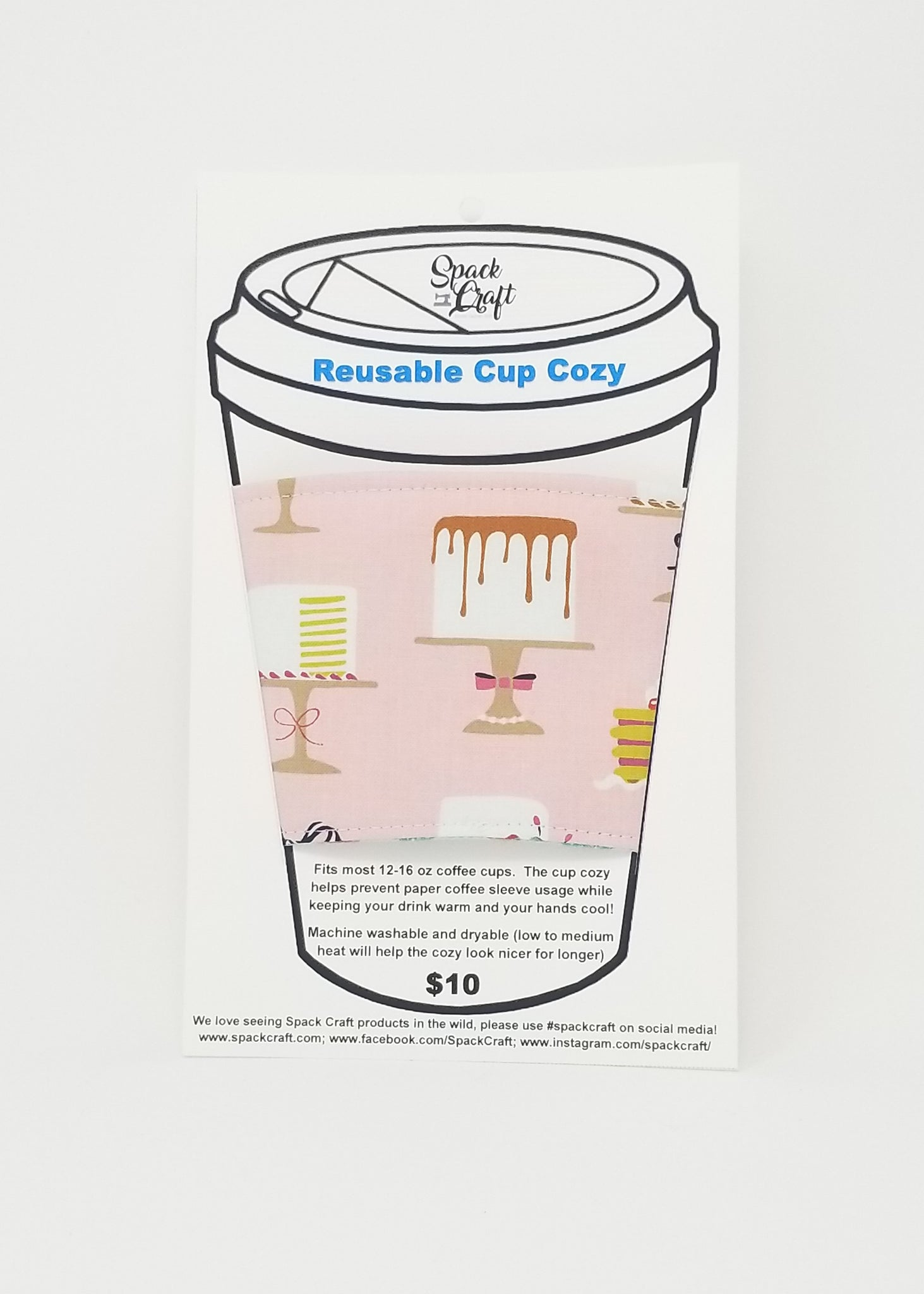 Reusable cup cozy - Sweet Treats in package