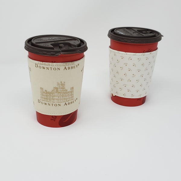 Reusable cup cozy - Downton Abbey - Pictured on a  medium Tim Horton's cup