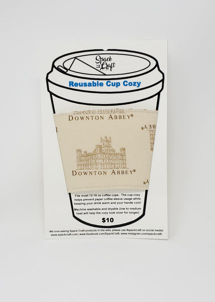 Reusable cup cozy - Downton Abbey - in package