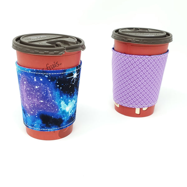 Reusable cup cozy -Galaxy - Pictured on a medium Tim Horton's cup