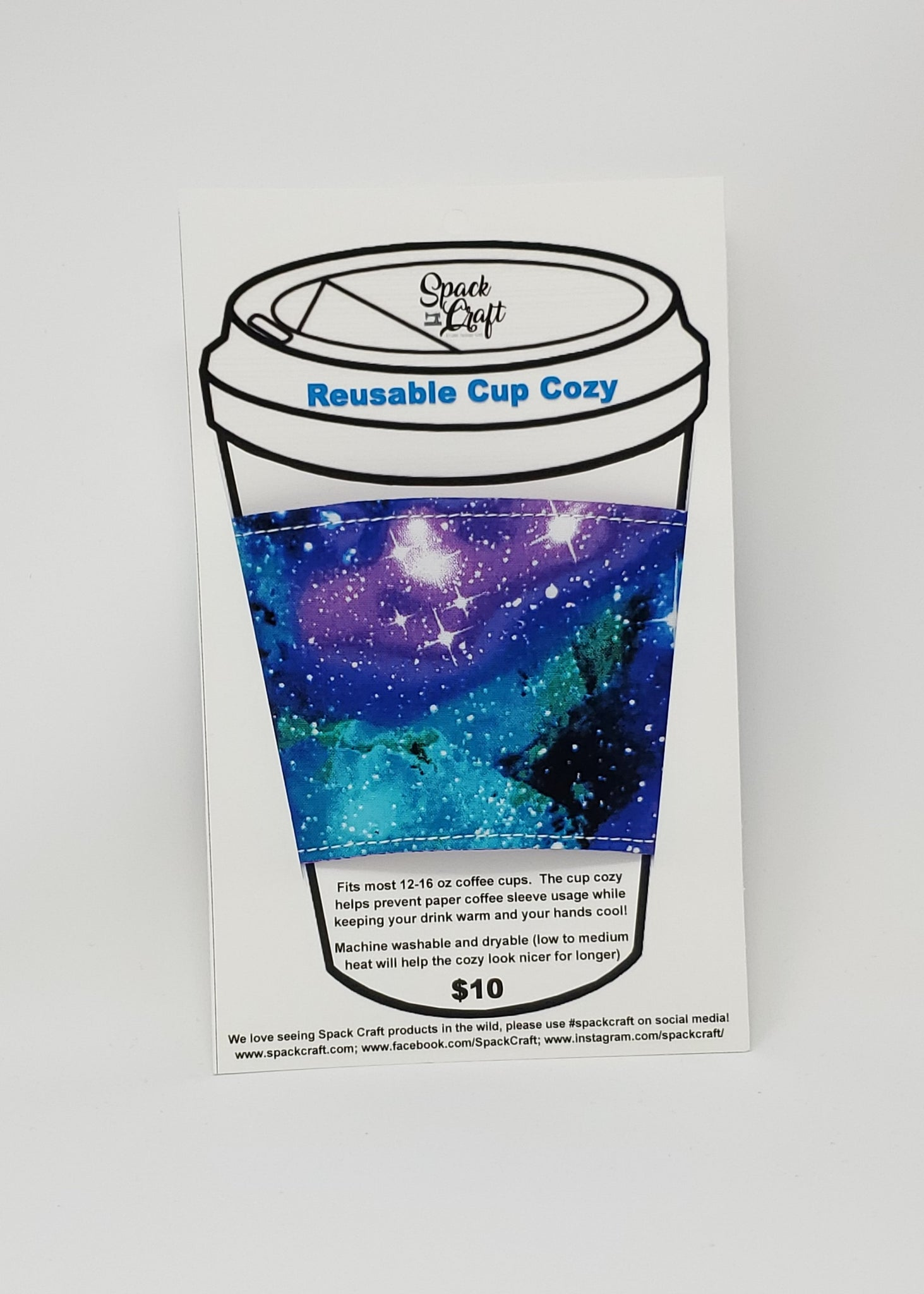 Reusable cup cozy - Galaxy - in package